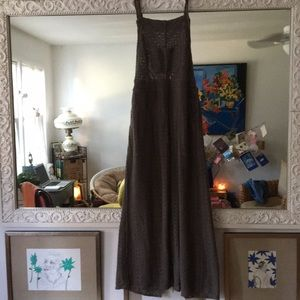 Lovely olive pinafore dress!